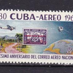 Cuba 1960 aviatie MI 678 MNH w26 - Timbre straine, Nestampilat
