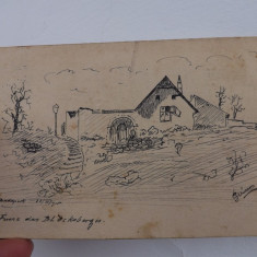 Carte postala lucrata in penita si semnata, datata 1915.Circulata.Reducere! - Carte Postala Transilvania 1904-1918, Reghin, Printata