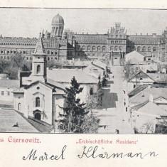 CERNAUTI BUCOVINA GRUSS AUS CZERNOWITZ CLASICA CIRC.1899 EDITURA LEON KONIG - Carte Postala Bucovina pana la 1904, Circulata, Printata