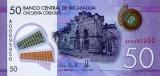 NICARAGUA █ bancnota █ 50 Cordobas █ 2014 █ P-211 █ POLYMER █ UNC necirculata