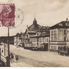 CERNAUTI  BUCOVINA   GARA    TCV   CIRCULATA 1936