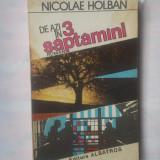 NICOLAE HOLBAN - DE AZI IN 3 SAPTAMANI - Roman, Anul publicarii: 1988