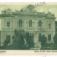 768 - Valcea, DRAGASANI, high school - old postcard - used - 1920 - Carte Postala Oltenia 1904-1918, Circulata, Printata