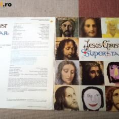 Jesus christ superstar muzica rock disc dublu vinyl 2 lp Gatefold editie vest, VINIL