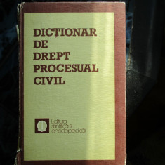 DICTIONAR DE DREPT PROCESUAL CIVIL - Carte Drept procesual civil