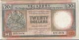 HONG KONG 20 DOLLARS DOLARI HSBC 1990 VF