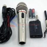 Microfon wireless  fara cablu  K&K  nou  carcasa metal , penar plastic baterii