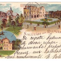 CARTI POSTALE VECHI ROMANIA-SALUTARI DIN ROMANIA-1899-CIRCULATA