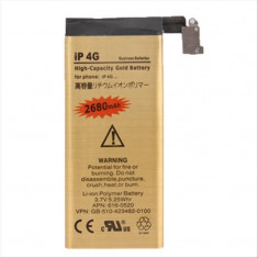 Acumulator baterie capacitate marita 2680 mAh Iphone 4G + folie protectie ecran, iPhone 4/4S, Li-ion