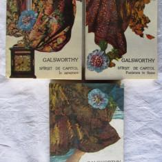 SFARSIT DE CAPITOL, Vol. I + II + III, John Galsworthy, 1983. Carti absolut noi - Roman