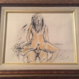 Tablouri nud erotice vintage - Pictor strain, An: 1945, Ulei, Realism