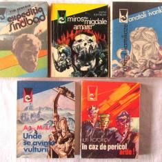 Lot 5 carti Colectia DELFINUL: ULTIMUL KAMIKAZE, EXPEDITIA SINDBAD.. Carti noi - Carte de aventura