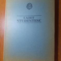 Caiet studentesc vechi nescris 1966 -combinatul de hartie si celuloza calarasi