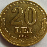 Moneda 20 Lei - ROMANIA, anul 1993 *cod 2863 - Moneda Romania