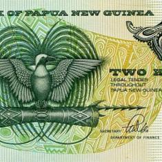PAPUA NOUA GUINEE bancnota 2 Kina 1981 P-5c semnatura 3 UNC necirculata