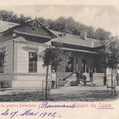 SALUTARI DIN CALAFAT PAVILIONU DIN GRADINA DEBARCADER CLASICA CIRC. 1902 - Carte Postala Oltenia pana la 1904, Circulata, Printata