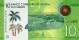 NICARAGUA █ bancnota █ 10 Cordobas █ 2014 █ P-209 █ POLIMER █ UNC █ necirculata