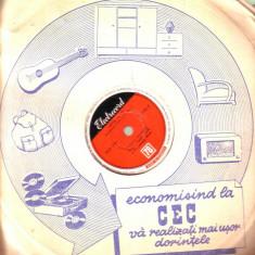 Disc patefon - George Bunea - Lalele, Trei Marioare - Muzica Lautareasca electrecord, Alte tipuri suport muzica