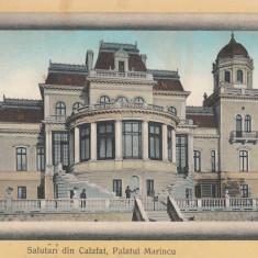 SALUTARI DIN CALAFAT, PALATUL MARINCU, CIRCULATA, STAMPILA IUL. ''913 - Carte Postala Oltenia 1904-1918, Printata