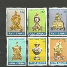 Romania 1988 - CEASURI DE EPOCA, serie  nestampilata, DB9/F107