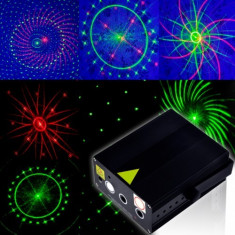 NOU, LASER 3D ANIMATIE ROSU+VERDE+LED DE MARE PUTERE, LASER DISCO PROFESIONAL - Laser lumini club