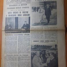 Ziarul informatia bucurestiului 28 mai 1987-vizita lui ceausescu la varsovia