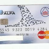 CARD BANCAR ALFA pentru colectionari .