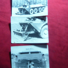 3 Fotografii Militare -Transportoare Blindate Romanesti, cu div.dispozitive - Fotografie veche