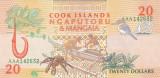 Bancnota Insulele Cook 20 Dolari 1992 - P9 UNC