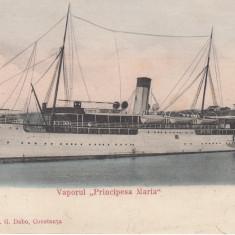 CONSTANTA, VAPORUL PRINCIPESA MARIA - Carte Postala Dobrogea pana la 1904, Circulata, Printata