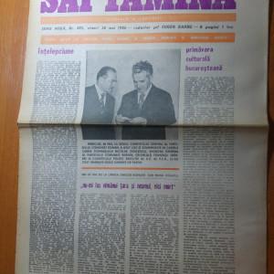 ziarul saptamana 30 mai 1980-380 de ani de la unirea tarilor romane