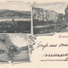 ORSOVA KAZANE CLASICA CIRCULATA 1898 - Carte Postala Oltenia pana la 1904, Printata