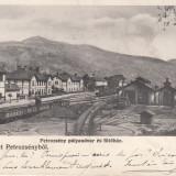 PETROSANI ,SALUTARI DIN PETROSANI , GARA , CLASICA , TREN , CIRCULATA  DEC. 1906