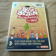 Big Brain Academy, Wii, original, alte sute de jocuri! - Jocuri WII Altele, 3+, Multiplayer