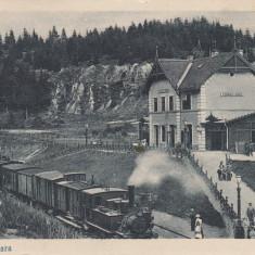 TUSNAD - GARA TREN LOCOMOTIVA CIRCULATA 1924 - Carte Postala Transilvania dupa 1918, Printata, Baile Tusnad