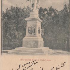 BUCURESTI, MONUMENTUL HELIADE RADULESCU, CIRCULATA, STAMPILA AUG.''900 - Carte Postala Muntenia pana la 1904, Printata