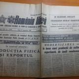 """Ziarul romania libera 8 septembrie 1989- articolul""""productia fizica si exportul"""""""