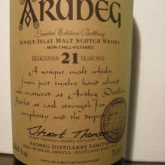 R A R E - whisky ardbeg limited, distilled 1979/1980, 21 years, cl 70 gr 56, 3