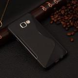 Husa Samsung Galaxy A3 A310 (2016) TPU S-LINE Neagra, Alt model telefon Samsung, Negru, Gel TPU