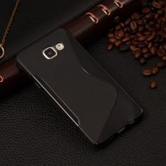 Husa Samsung Galaxy A3 A310 (2016) TPU S-LINE Neagra - Husa Telefon Samsung, Negru, Gel TPU, Fara snur, Carcasa