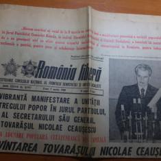 Ziarul romania libera 7 martie 1980-cuvantarea lui ceausescu cu privire la vot