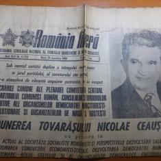 Ziarul romania libera 29 noiembrie 1988-expunera lui ceausescu la plenara CC