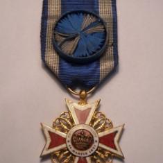 Ordinul Coroana Romaniei Ofiter Primul Model Frumoasa Piesa de Colectie