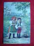 Ilustrata - Copii Valahi in costume nationale ,inc.sec.XX , color