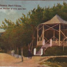 #1720- Romania, Ocnele Mari - Valcea carte post. circ. 1922: Pavilionul Muzicii