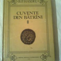 CUVENTE DEN BATRINI ~ B.P.HASDEU ( vol.2) - Studiu literar