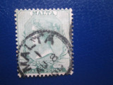 TIMBRE VECHI ANGLIA MALTA USED, Stampilat