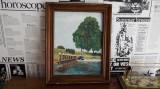 Tablou ulei Canal de Middelburg, Peisaje, Realism