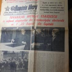 Ziarul romania libera 10 martie 1980-ceausescu la vot