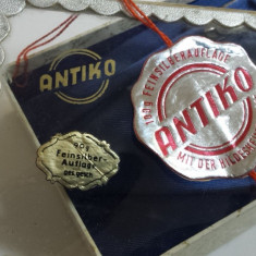 Superb si Vechi Set ANTIKO Lingura Lingurita si Cleste zahar in cutie Originala - Argint, Tacamuri